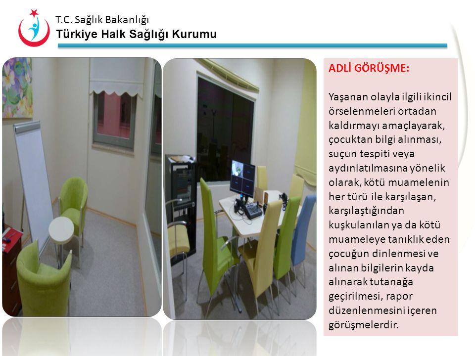 T.C. Sağlık Bakanlığı Türkiye Halk Sağlığı Kurumu Çocuk İzlem Merkezi'nde; Adli Görüşme, ₒ Aile Görüşmesi, ₒ Adli Muayene ve ₒ Psikiyatrik Değerlendir