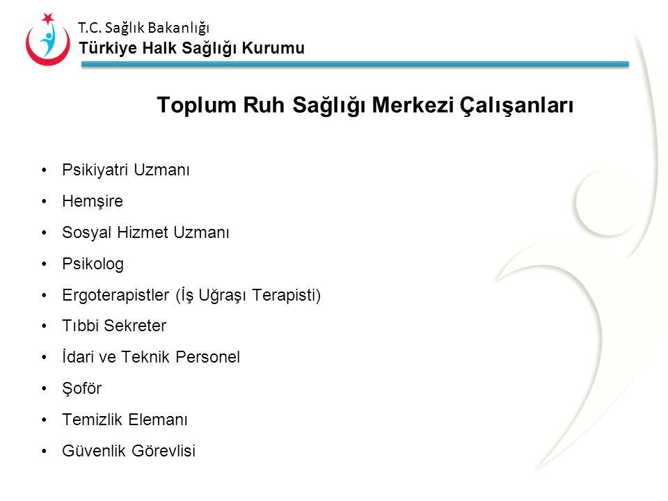 T.C. Sağlık Bakanlığı Türkiye Halk Sağlığı Kurumu Bütün TRSM'lerde: Hizmetlerin yerine getirilmesini sağlayacak sağlık personeli ve yardımcı personeld