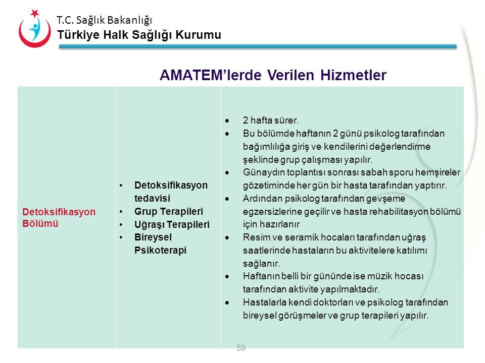 T.C. Sağlık Bakanlığı Türkiye Halk Sağlığı Kurumu Madde Bağımlılığı Tedavisi