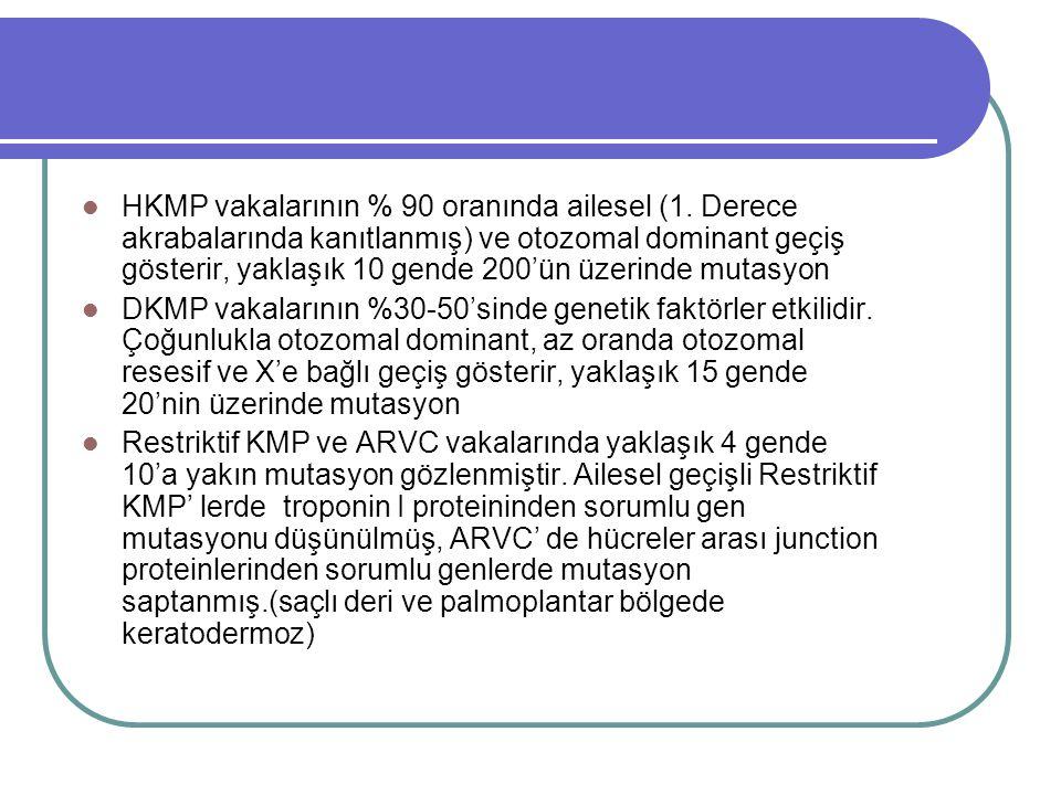 HKMP vakalarının % 90 oranında ailesel (1.