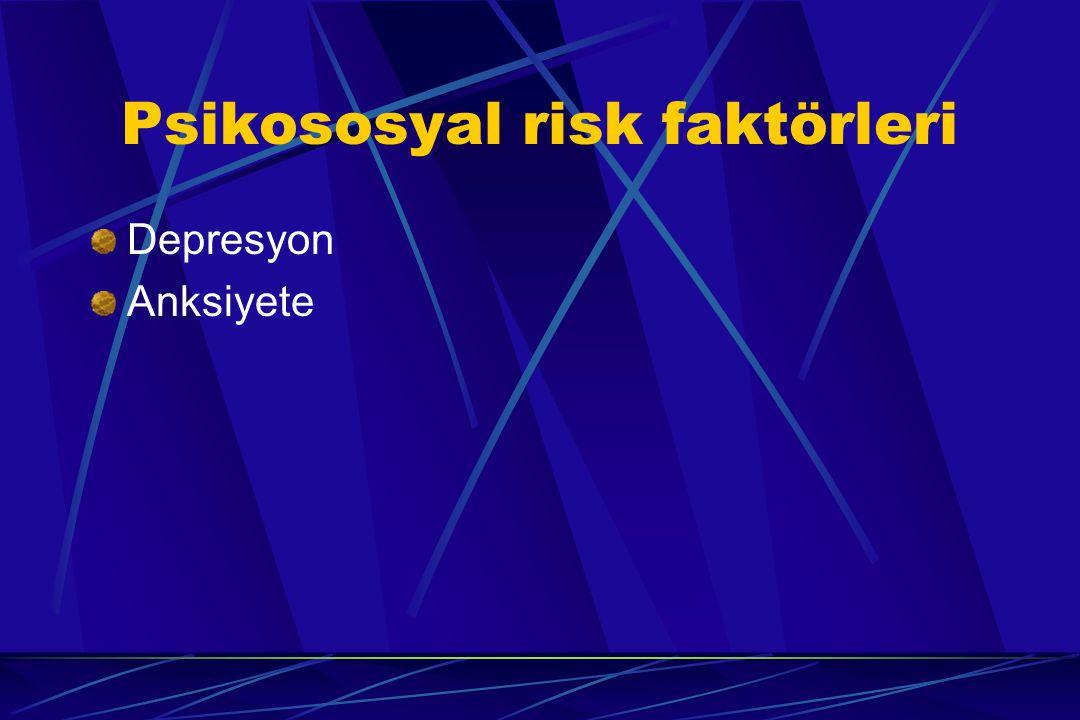 Psikososyal risk faktörleri Depresyon Anksiyete