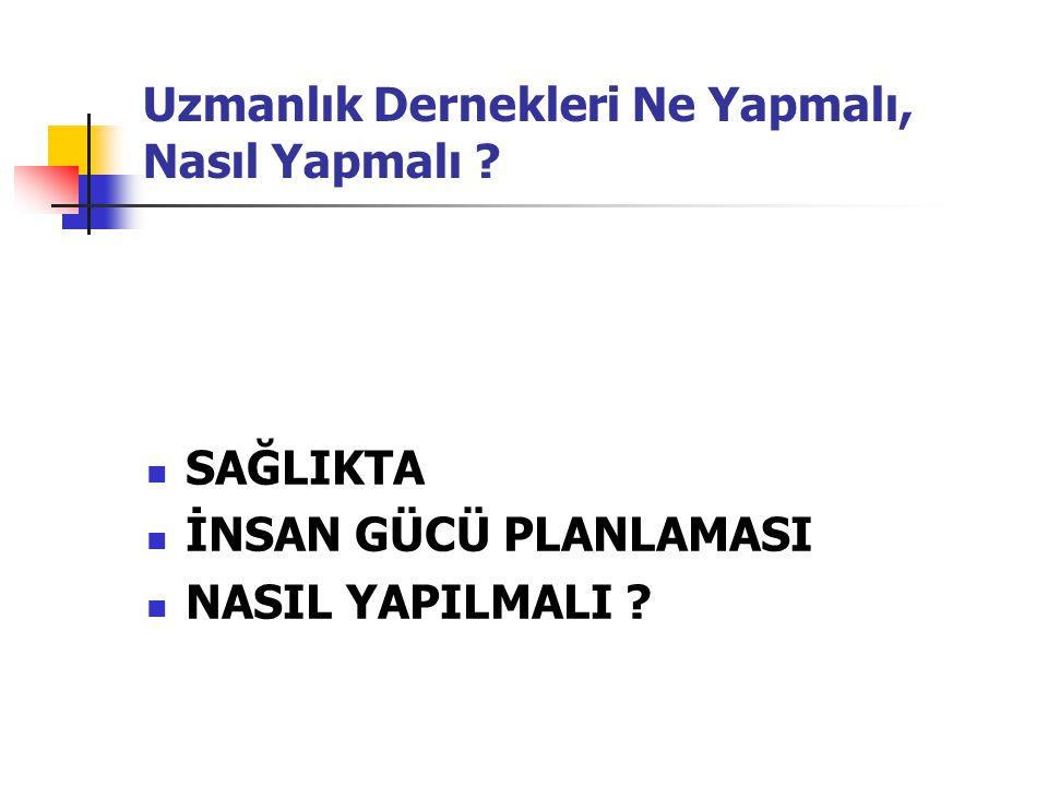 KAYNAKLAR 1- Üniversiteler Arası Kurul Tıp-Sağlık Konseyi Raporu Türkiye' de Tıp-Sağlık Bilimleri Alanında Eğitim ve İnsan Gücü Planlaması: Mevcut Durum ve 2013 Yılı Vizyonu 26 Mayıs 2006 Ege Üniversitesi, İzmir.