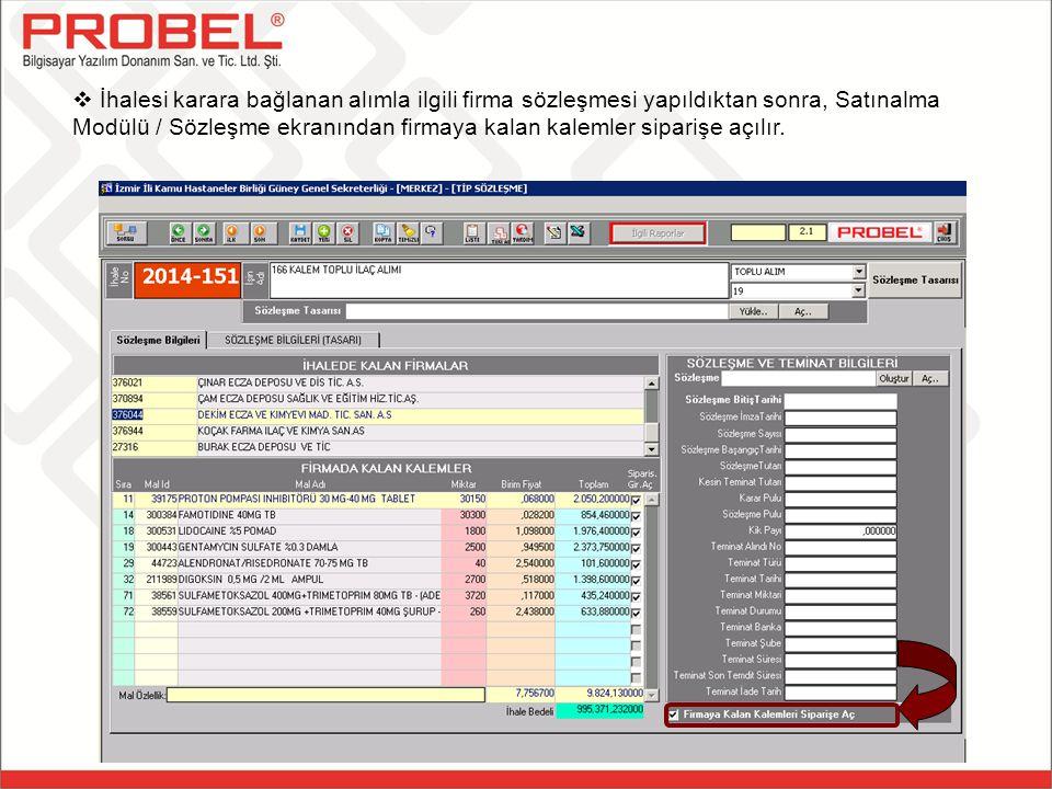 Kurum Sipariş Girişi ekranı aracılığıyla, Genel Sekreterliğe bağlı kurumlar siparişlerini oluşturabilirler.