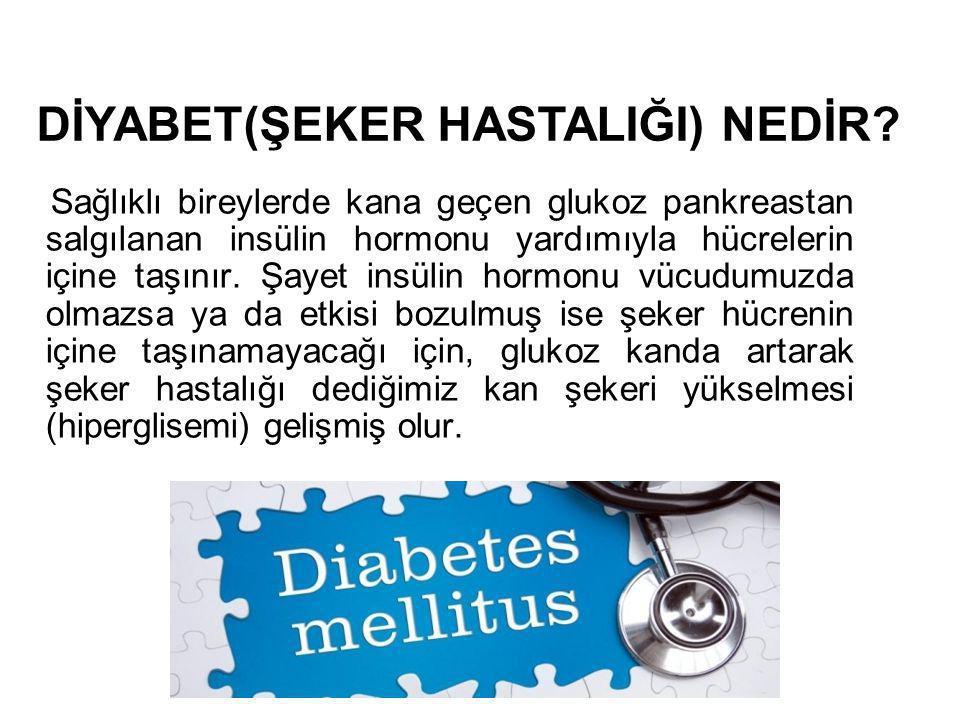 Sağlıklı bireylerde kana geçen glukoz pankreastan salgılanan insülin hormonu yardımıyla hücrelerin içine taşınır. Şayet insülin hormonu vücudumuzda ol