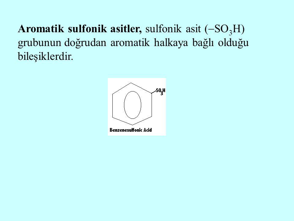 Aromatik sulfonik asitler, sulfonik asit (  SO 3 H) grubunun doğrudan aromatik halkaya bağlı olduğu bileşiklerdir.