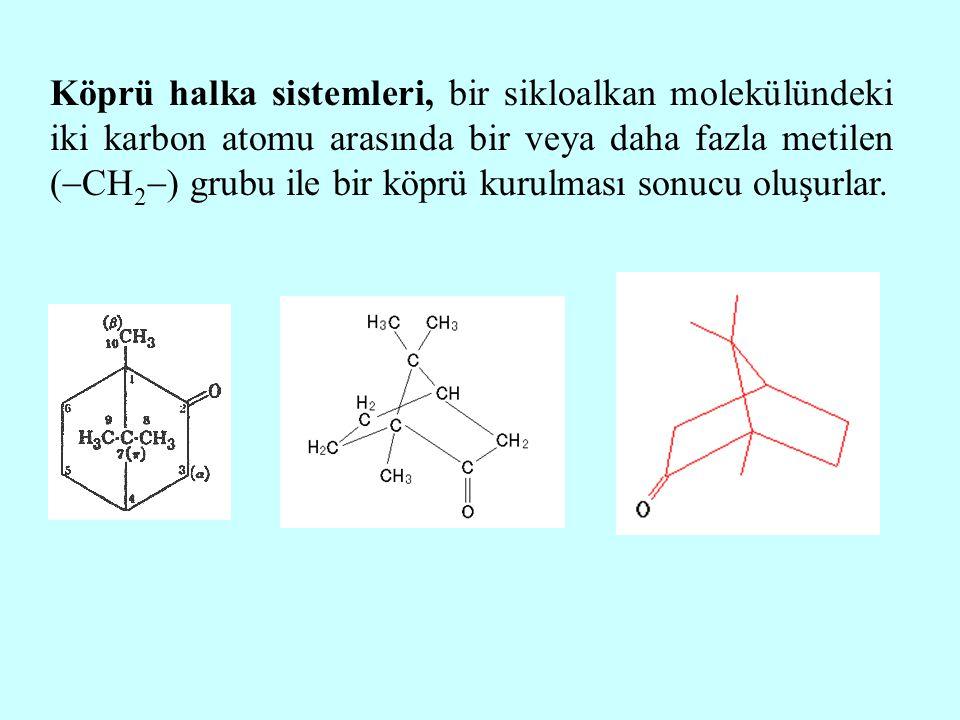 Köprü halka sistemleri, bir sikloalkan molekülündeki iki karbon atomu arasında bir veya daha fazla metilen (  CH 2  ) grubu ile bir köprü kurulması
