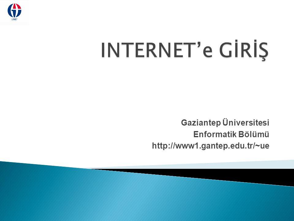Gaziantep Üniversitesi Enformatik Bölümü http://www1.gantep.edu.tr/~ue