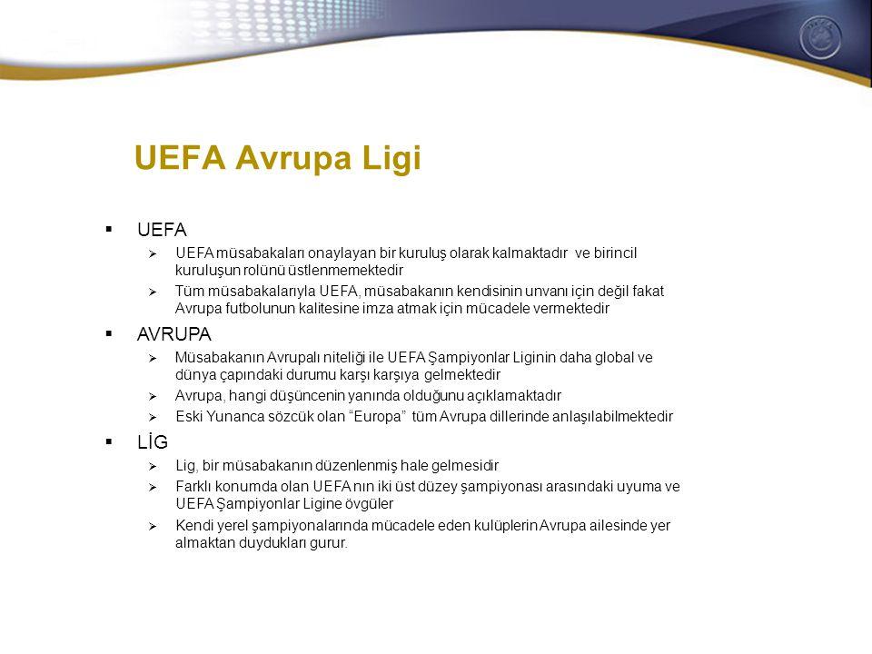 General Secretaries/CEOs meeting 28-29 October 2008 UEFA Avrupa Ligi  UEFA  UEFA müsabakaları onaylayan bir kuruluş olarak kalmaktadır ve birincil k