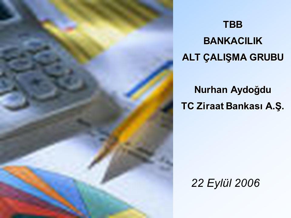 22 Eylül 2006 TBBBANKACILIK ALT ÇALIŞMA GRUBU Nurhan Aydoğdu TC Ziraat Bankası A.Ş.