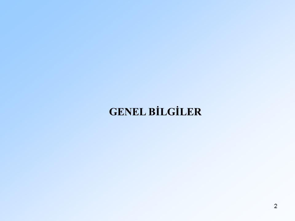 2 GENEL BİLGİLER