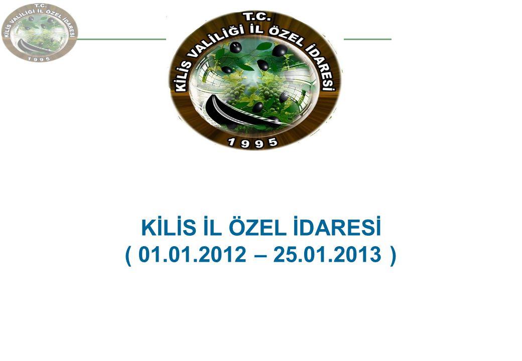 KİLİS İL ÖZEL İDARESİ ( 01.01.2012 – 25.01.2013 )