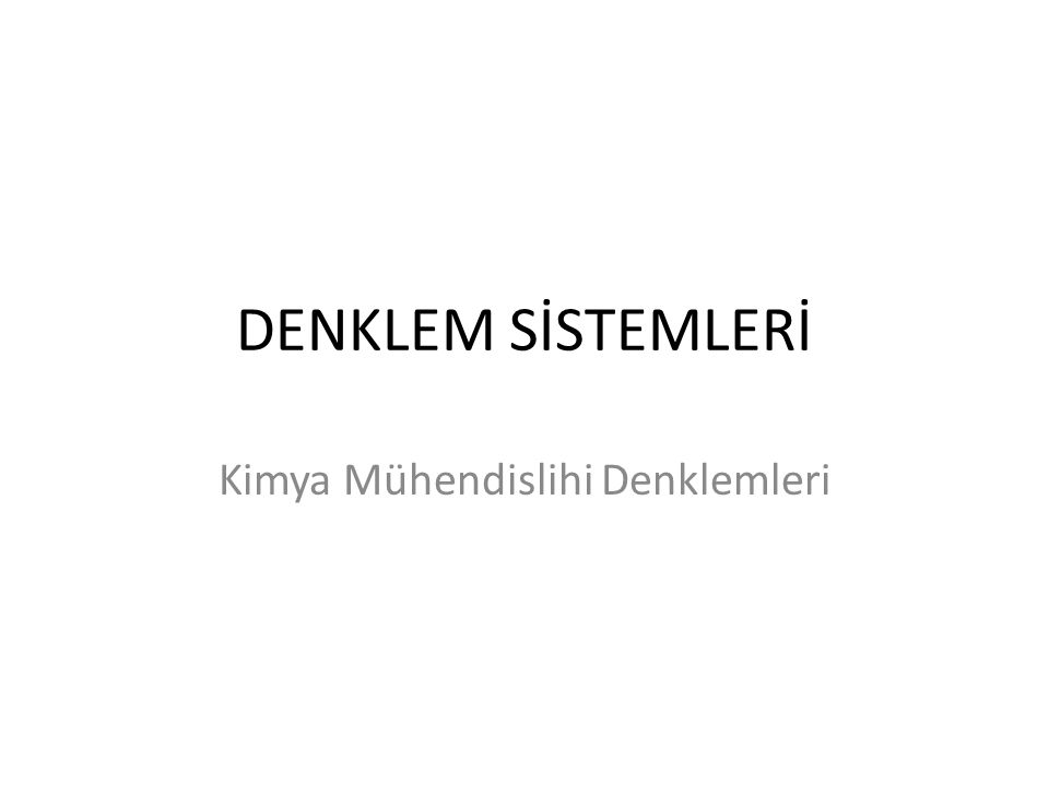 Kimya Mühendisliği Örnek Soru Tipleri SORU TİPİDENKLEM TİPİMATLAB Problem Tipi 1Single Nonlinearfzero Molar Volume and Compressibility FactorEquation from Van Der Waals Equation Problem Tipi 2Simultaneous LinearX = A\f' Steady State Material Balances on a Separation Train*Equations Problem Tipi 3 polyfit, polyval Mathematical Methods Vapor Pressure Data Representation byPolynomial Fitting, Polynomials and EquationsLinear and Nonlinear Regression Problem Tipi 4Simultaneousfsolve veya NR Thermodynamics Reaction EquilibriumNonlinear Equations for Multiple Gas Phase Reactions* Problem Tipi 5 Single Nonlinear Equationiterasyon Fluid Dynamics Terminal Velocity of Falling Particles Problem Tipi 6Simultaneous ODE's with knownode45 Heat Transfer Unsteady State Heat Exchange in a Series of Agitated Tanks*initial conditions.