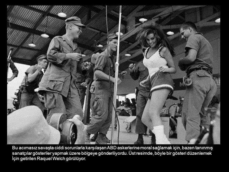 Bu acımasız savaşta ciddi sorunlarla karşılaşan ABD askerlerine moral sağlamak için, bazen tanınmış sanatçılar gösteriler yapmak üzere bölgeye gönderi