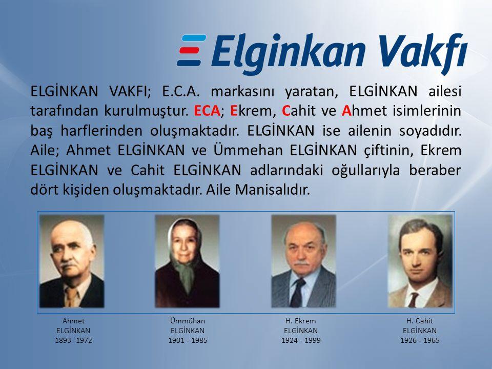 ELGİNKAN VAKFI; E.C.A. markasını yaratan, ELGİNKAN ailesi tarafından kurulmuştur.