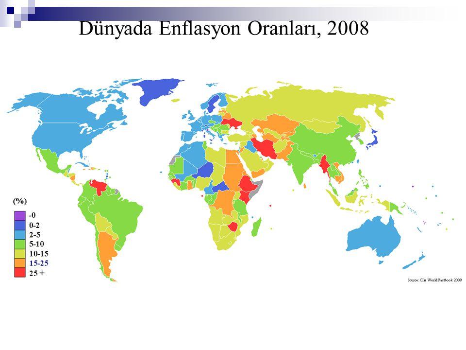 Dünyada Enflasyon Oranları, 2008