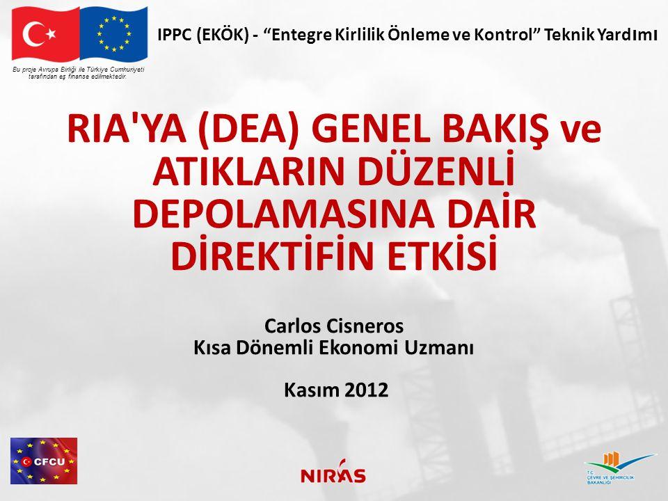 RIA/DEA RAPORU İÇİNDEKİLER Bu proje Avrupa Birliği ile Türkiye Cumhuriyeti tarafından eş finanse edilmektedir.