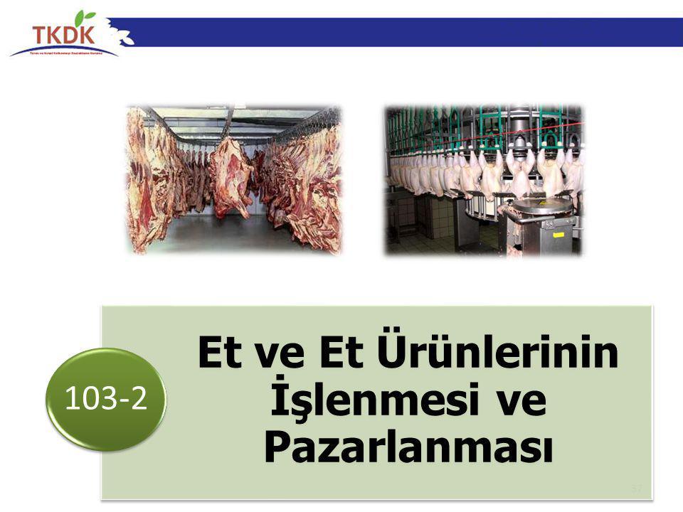 37 Et ve Et Ürünlerinin İşlenmesi ve Pazarlanması 103-2