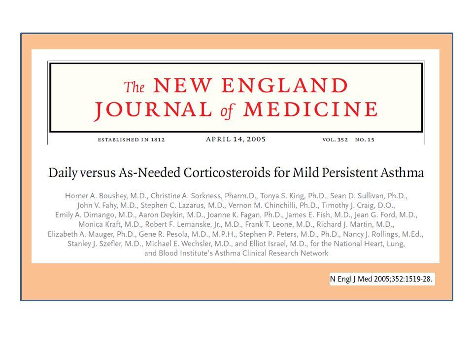 IMPACT: the Improving Asthma Control Boushey HA, NEJM 2005; 352: 1519-28.