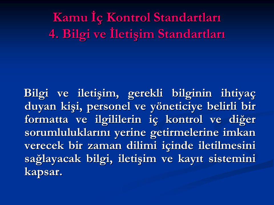 Kamu İç Kontrol Standartları 4.
