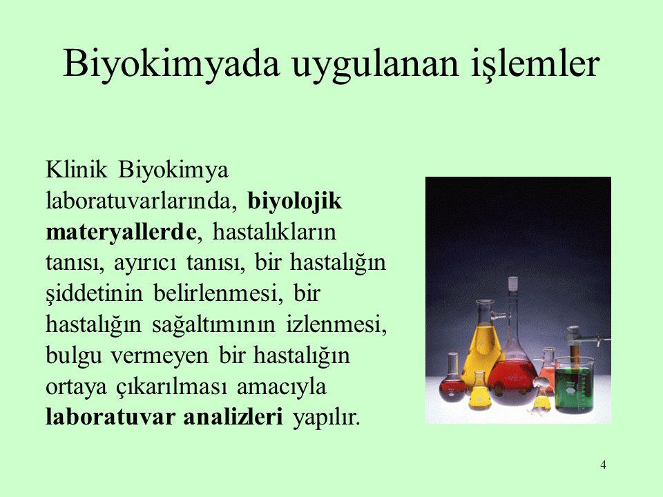 5 Analiz türleri 1) Kalitatif (nitel) analizler: Tanımlama testleridir; sonuçları var-yok veya pozitif-negatif olarak ifade edilir.