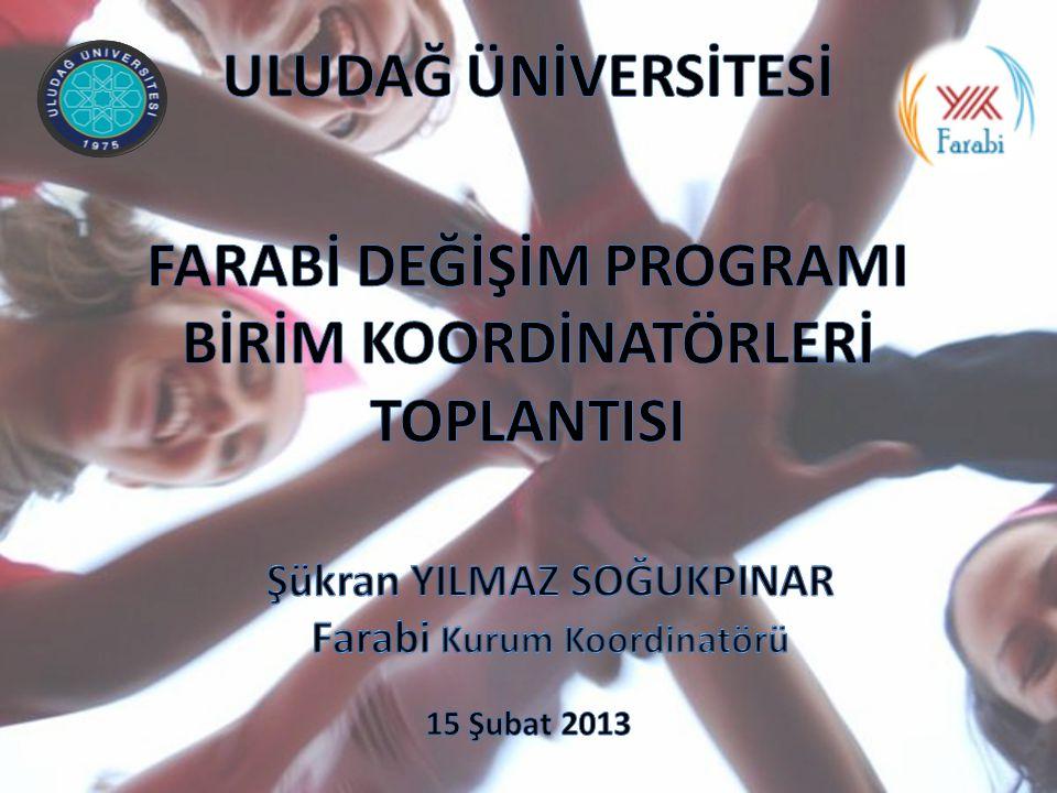 YÖK Farabi Ofisinin yürütücülüğünde seçilen altı Üniversite tarafından Farabi El Kitabı çalışmaları tamamlanmış olup Anadolu Üniversitesi tarafından basım işlemleri yapılacaktır.