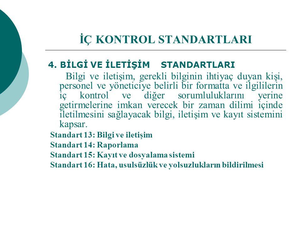 İÇ KONTROL STANDARTLARI 4.