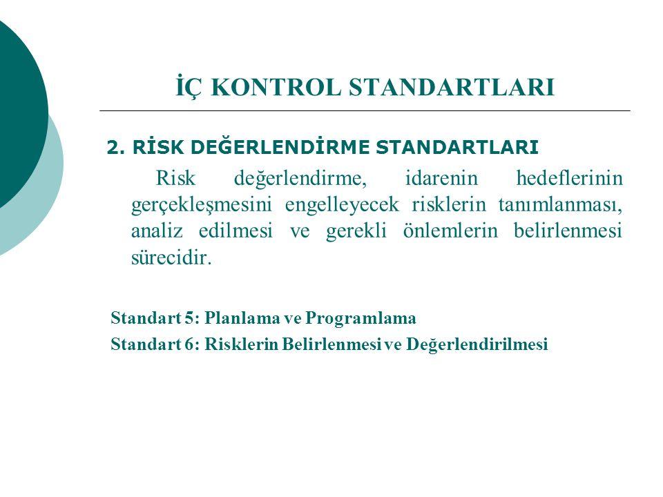 İÇ KONTROL STANDARTLARI 2.
