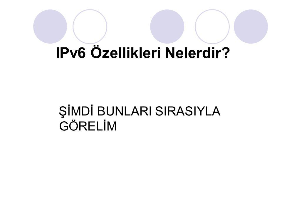 Yeni Başlık (header) Formatı: IPv6 başlığı ek yükü (overhead) en aza indirecek şekilde tasarlanmıştır.
