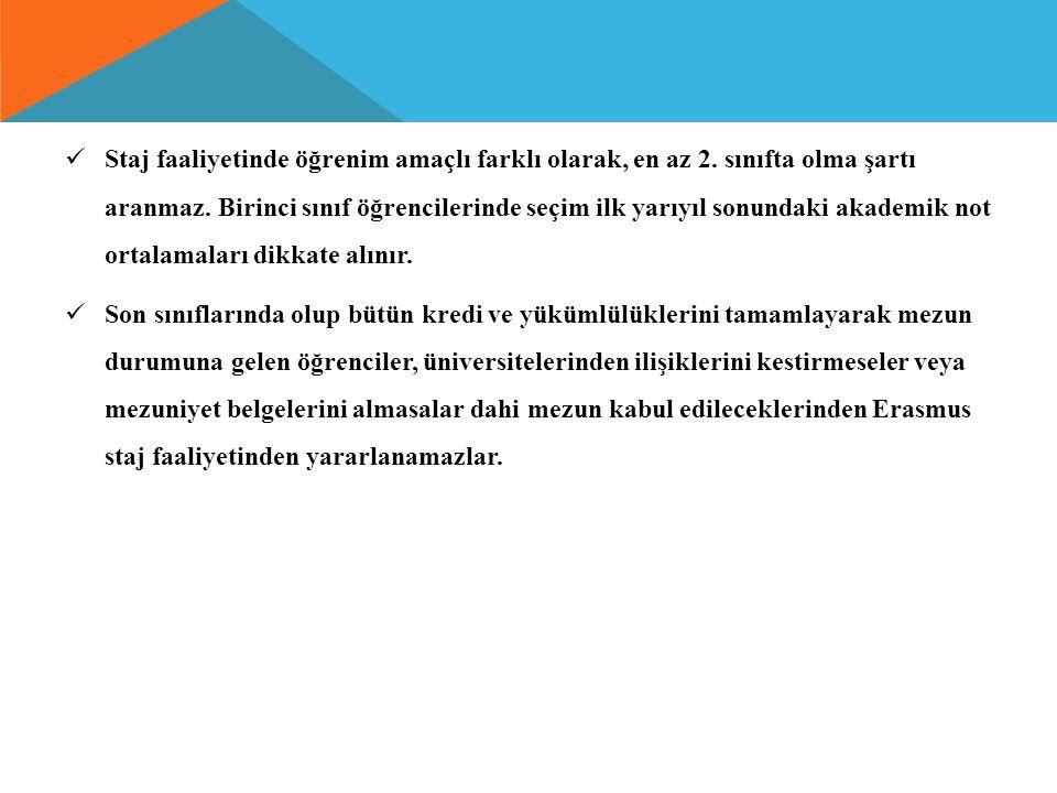BAŞVURU SÜRECİ Öğrenciler başvuru tarihleri arasında app.erasmus.beun.edu.tr.