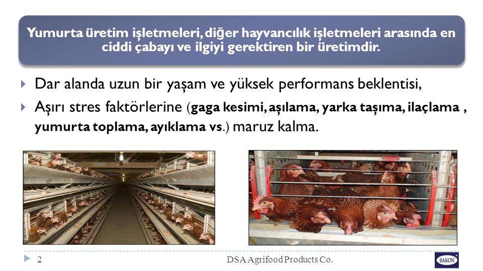 Yumurta üretim işletmeleri, di ğ er hayvancılık işletmeleri arasında en ciddi çabayı ve ilgiyi gerektiren bir üretimdir. 2  Dar alanda uzun bir yaşam