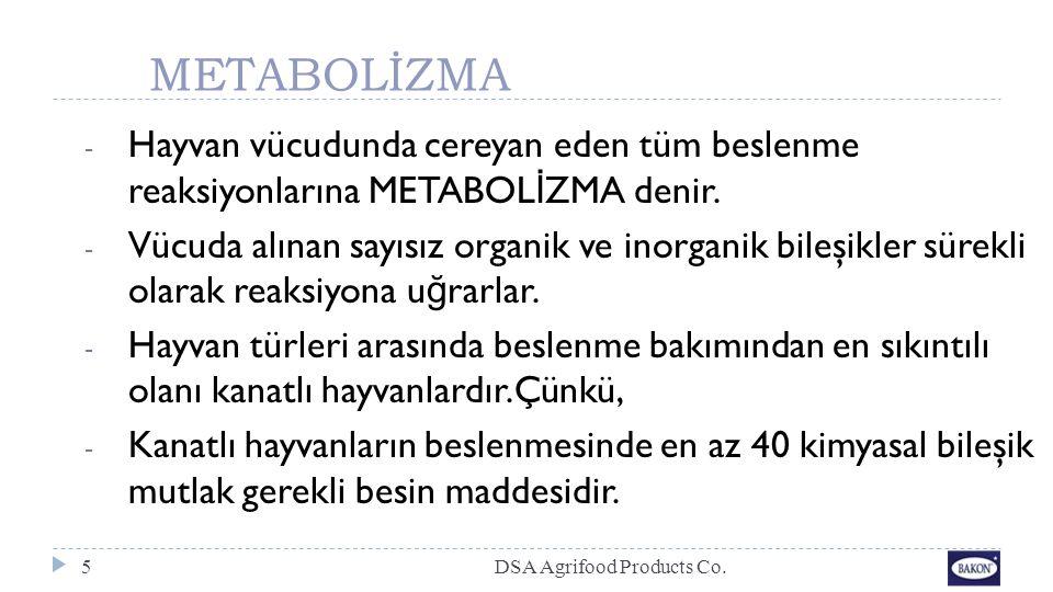 METABOLİZMA - Hayvan vücudunda cereyan eden tüm beslenme reaksiyonlarına METABOL İ ZMA denir. - Vücuda alınan sayısız organik ve inorganik bileşikler
