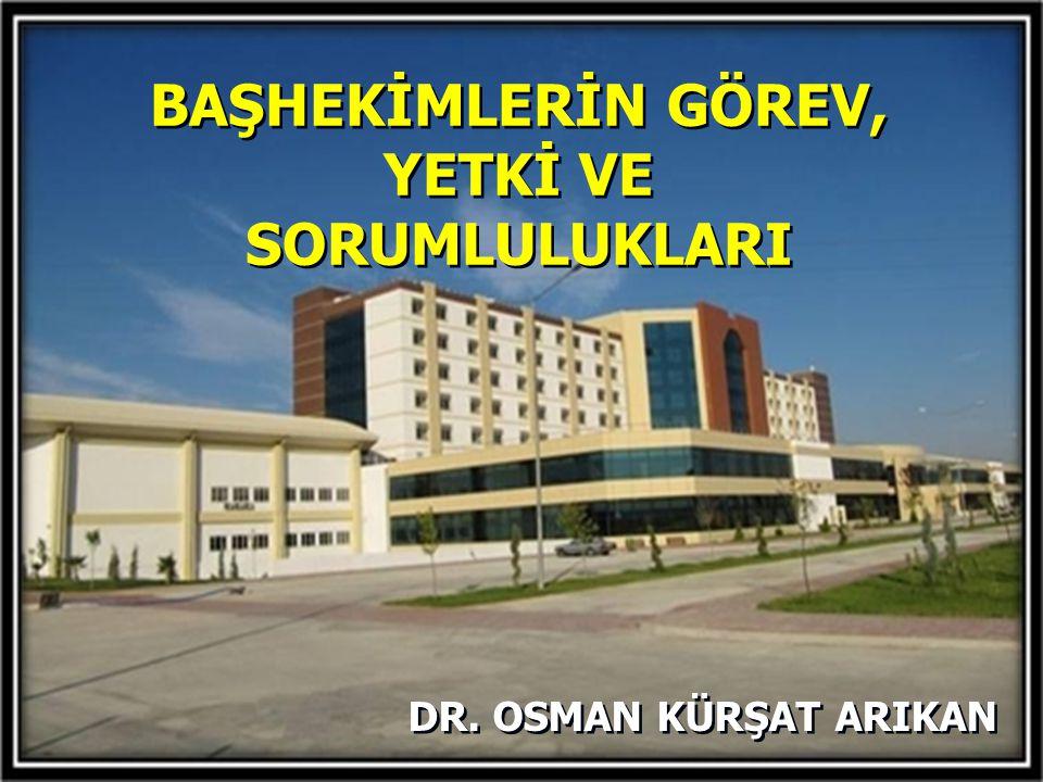 Türkiye'deki Devlet Hastanelerinin Yönetim ve Organizasyon Yapısını Verimlilik açısından İnceleyen bir Araştırma  Prof.