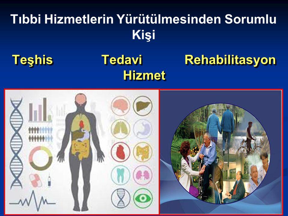 Teşhis Tedavi Rehabilitasyon Hizmet Tıbbi Hizmetlerin Yürütülmesinden Sorumlu Kişi