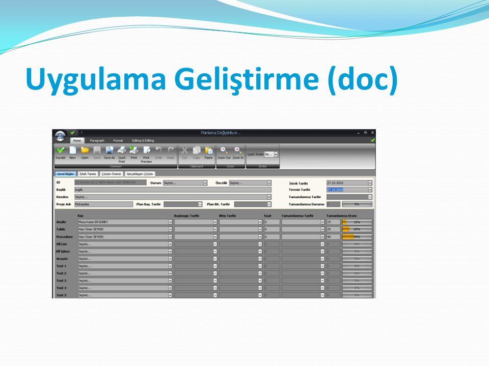 Uygulama Geliştirme (doc)