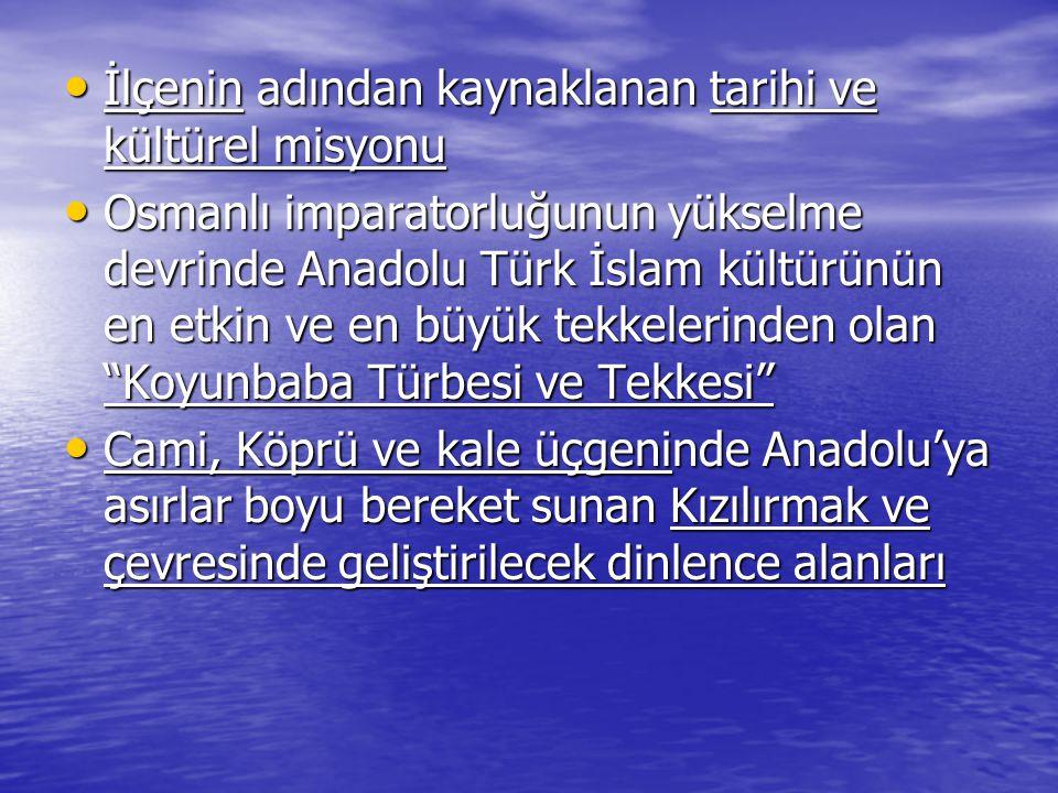 İlçenin adından kaynaklanan tarihi ve kültürel misyonu İlçenin adından kaynaklanan tarihi ve kültürel misyonu Osmanlı imparatorluğunun yükselme devrin