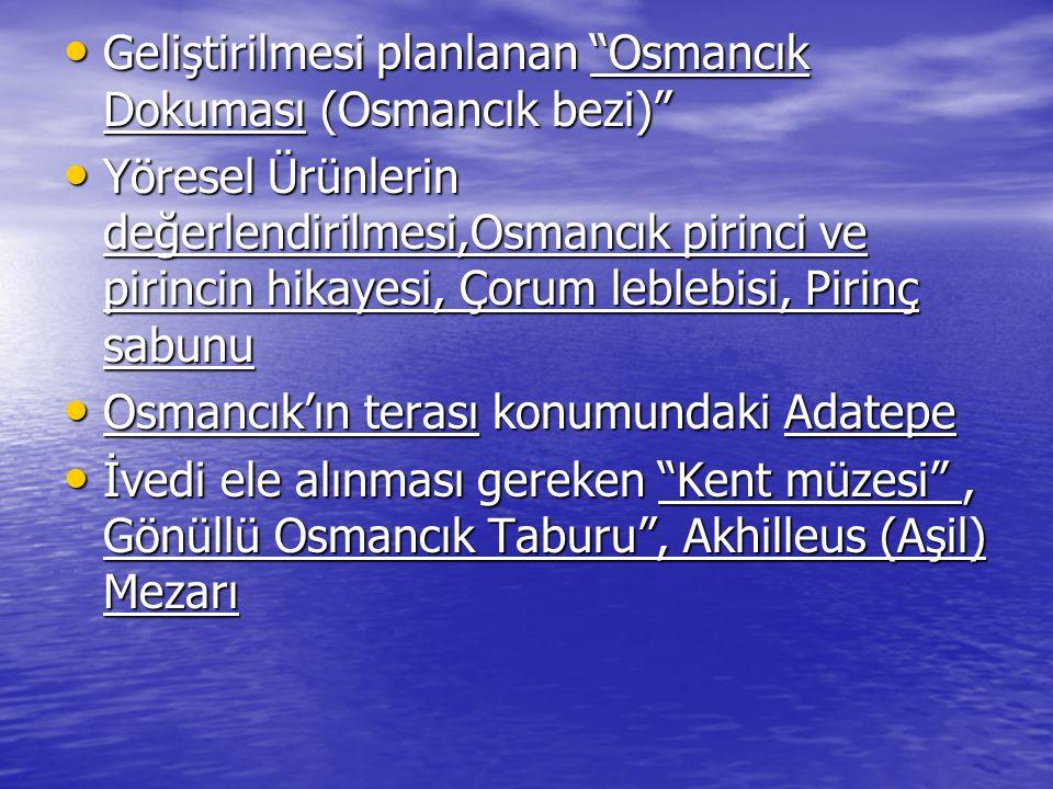 """Geliştirilmesi planlanan """"Osmancık Dokuması (Osmancık bezi)"""" Geliştirilmesi planlanan """"Osmancık Dokuması (Osmancık bezi)"""" Yöresel Ürünlerin değerlendi"""