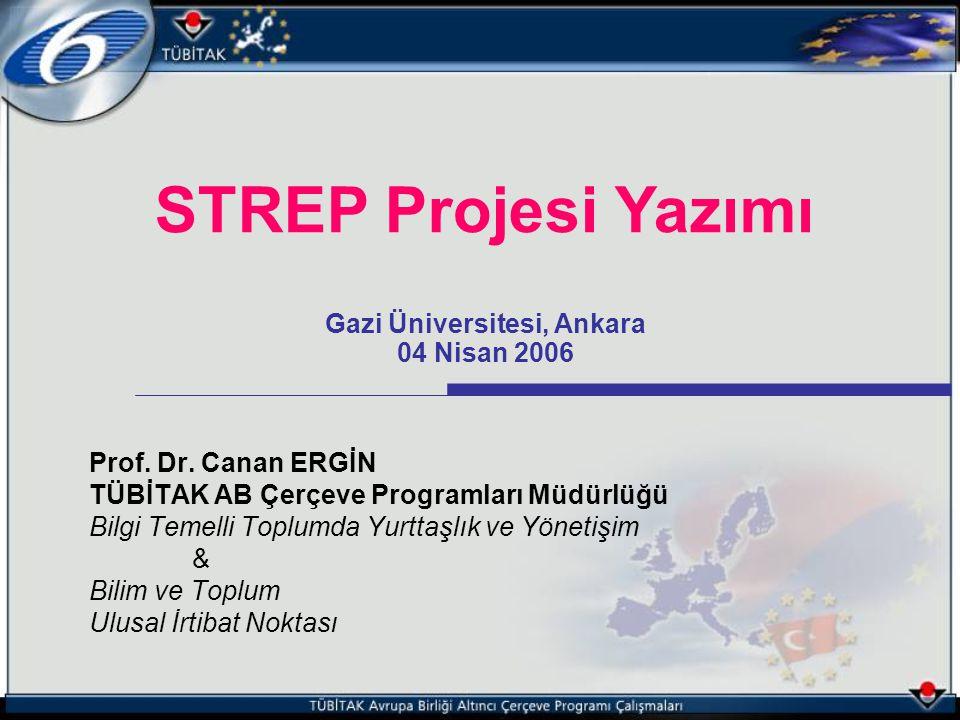 Prof. Dr. Canan ERGİN TÜBİTAK AB Çerçeve Programları Müdürlüğü Bilgi Temelli Toplumda Yurttaşlık ve Yönetişim & Bilim ve Toplum Ulusal İrtibat Noktası