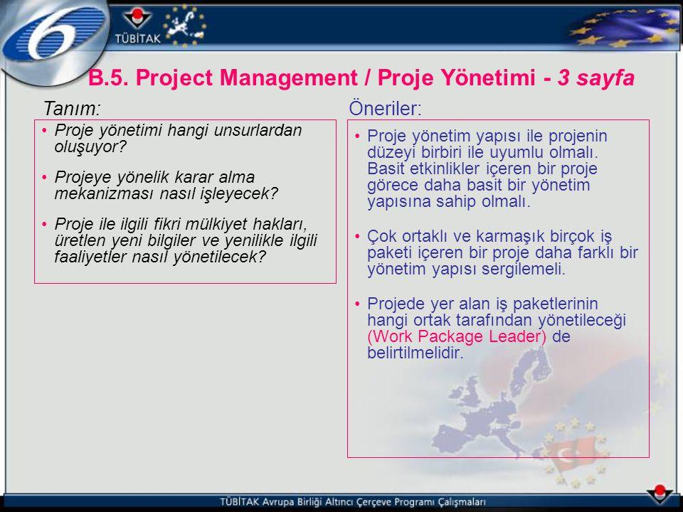 Proje yönetimi hangi unsurlardan oluşuyor? Projeye yönelik karar alma mekanizması nasıl işleyecek? Proje ile ilgili fikri mülkiyet hakları, üretlen ye