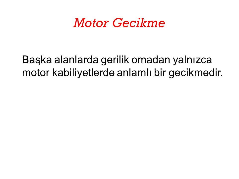 Motor Gecikme Bas ̧ ka alanlarda gerilik omadan yalnızca motor kabiliyetlerde anlamlı bir gecikmedir.