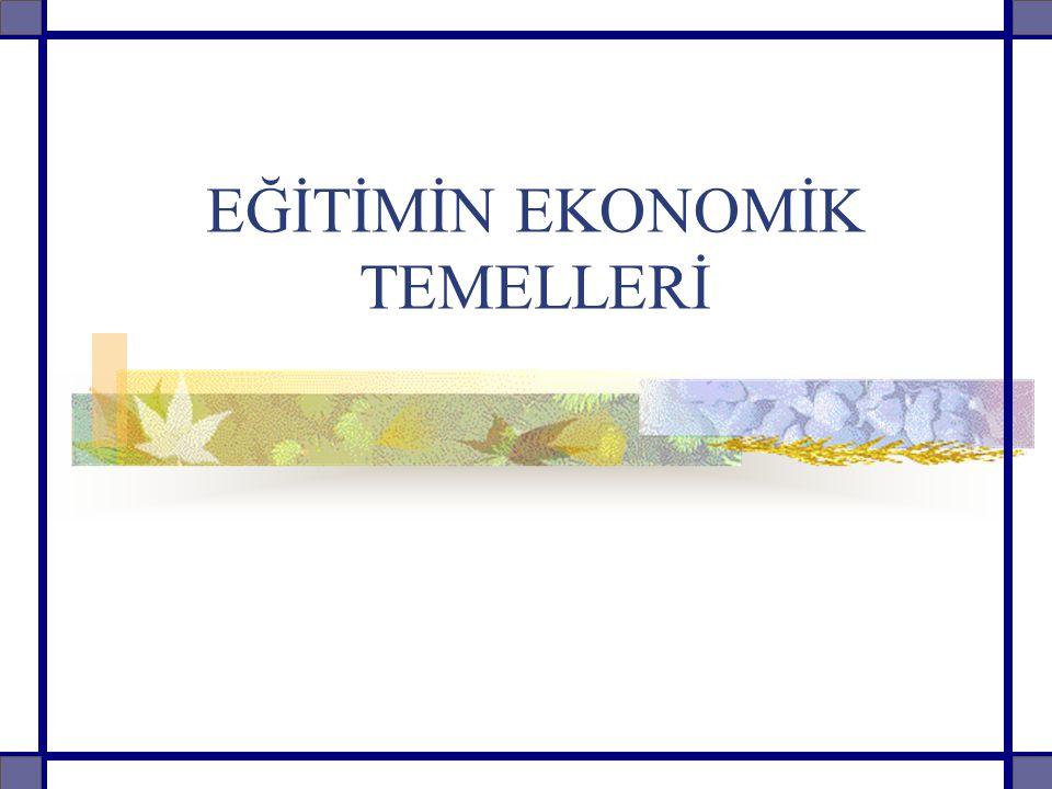 Konu Örüntüsü Giriş Eğitim Kalkınma İlişkisi Eğitim Ekonomik Gelişme Eğitim Gelir İlişkisi Eğitim İstihdam İlişkisi Eğitimde Verimlilik Eğitimde Maliyetler Eğitimde Finansman Eğitimin Tüketim Ve Yatırım Özelliği