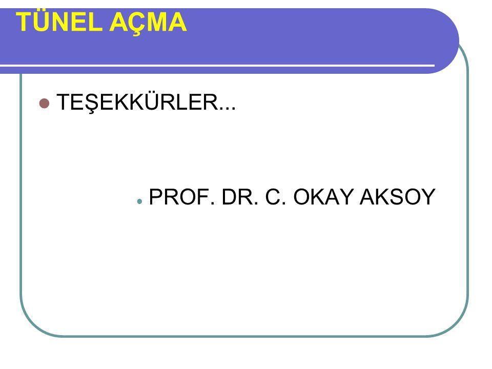 TEŞEKKÜRLER... PROF. DR. C. OKAY AKSOY