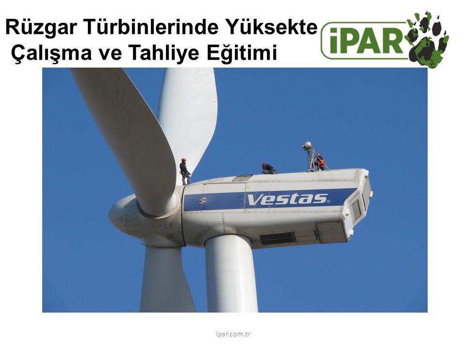 Rüzgar Türbinlerinde Yüksekte Çalışma ve Tahliye Eğitimi ipar.com.tr