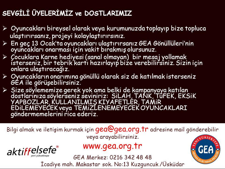 Ve bu oyuncakları, Şanlıurfa, Adana, Mersin, Van, Ağrı, İzmir, Aydın, Ankara, Eskişehir, Trabzon, Denizli, Bolu, İstanbul illerinde bulunan 105 okulda