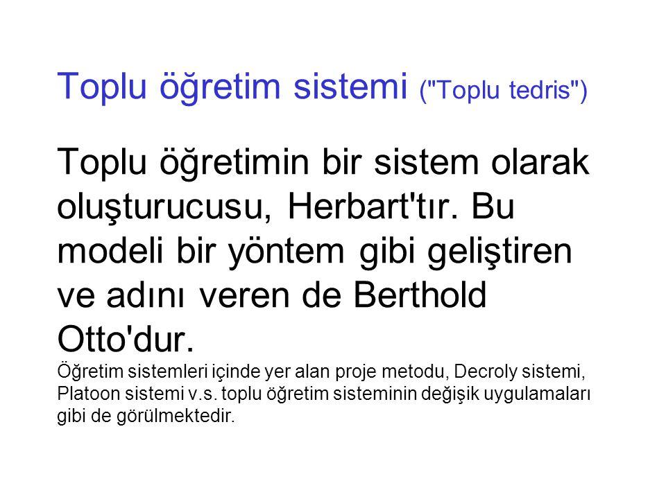 Toplu öğretim sistemi (