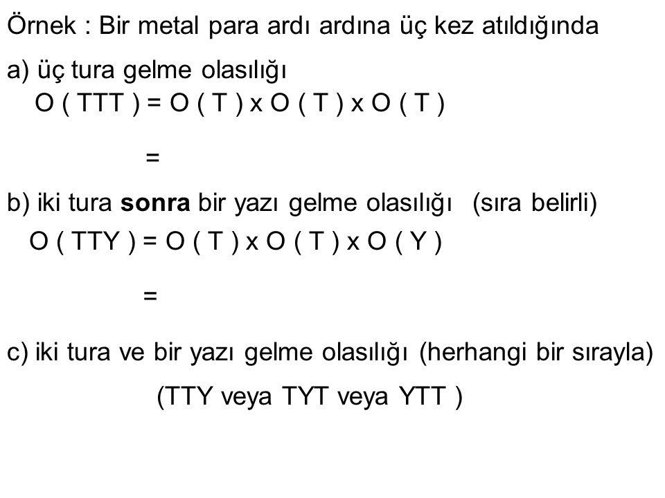 O(TTY) veya O(TYT) veya O(YTT ) = O(TTY) + O(TYT) + O(YTT )