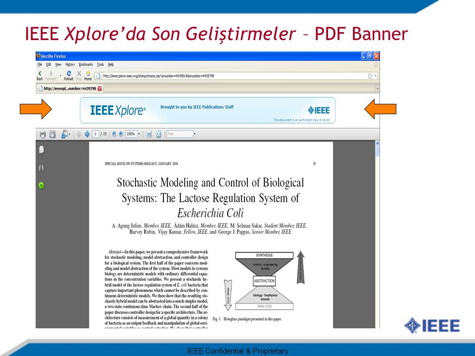 IEEE Xplore'da Son Geliştirmeler – PDF Banner IEEE Confidential & Proprietary