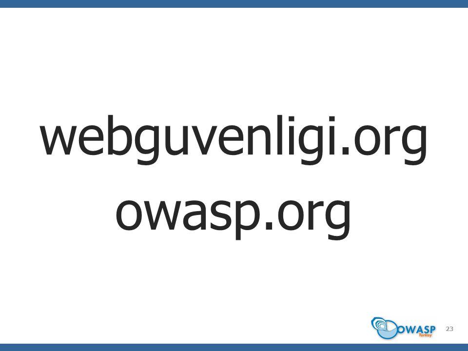 webguvenligi.org owasp.org 23