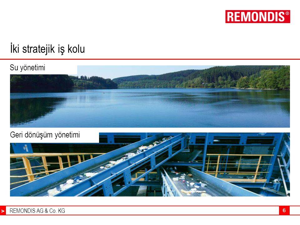 REMONDIS AG & Co. KG > 66 Su yönetimi İki stratejik iş kolu Geri dönüşüm yönetimi