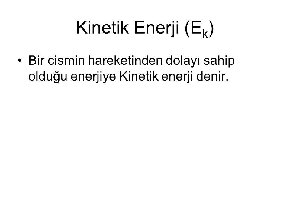 Bir varlığın kinetik enerjiye sahip olduğunu anlamak çok kolaydır. Eğer bir varlık, hareket ediyorsa kinetik enerjiye sahip demektir. Örneğin, hareket