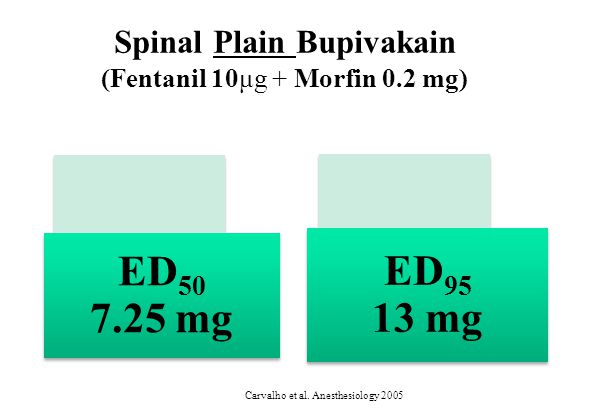Spinal Plain Bupivakain (Fentanil 10μg + Morfin 0.2 mg) Carvalho et al. Anesthesiology 2005